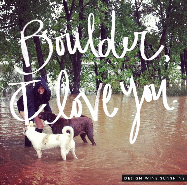 Design Wine Sunshine - Boulder I Love You