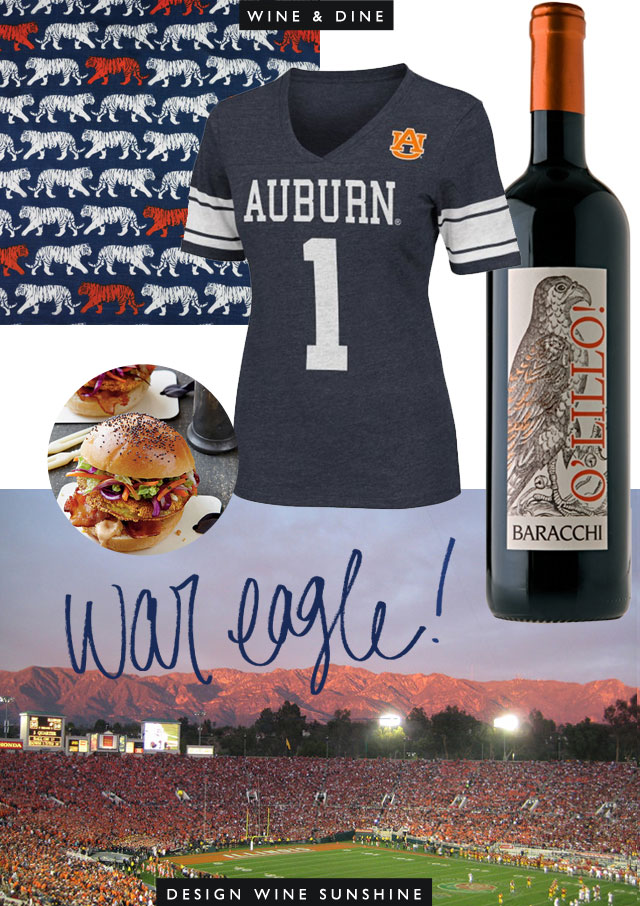 Design Wine Sunshine's Wine & DIne : Auburn's National Championship - War Eagle!