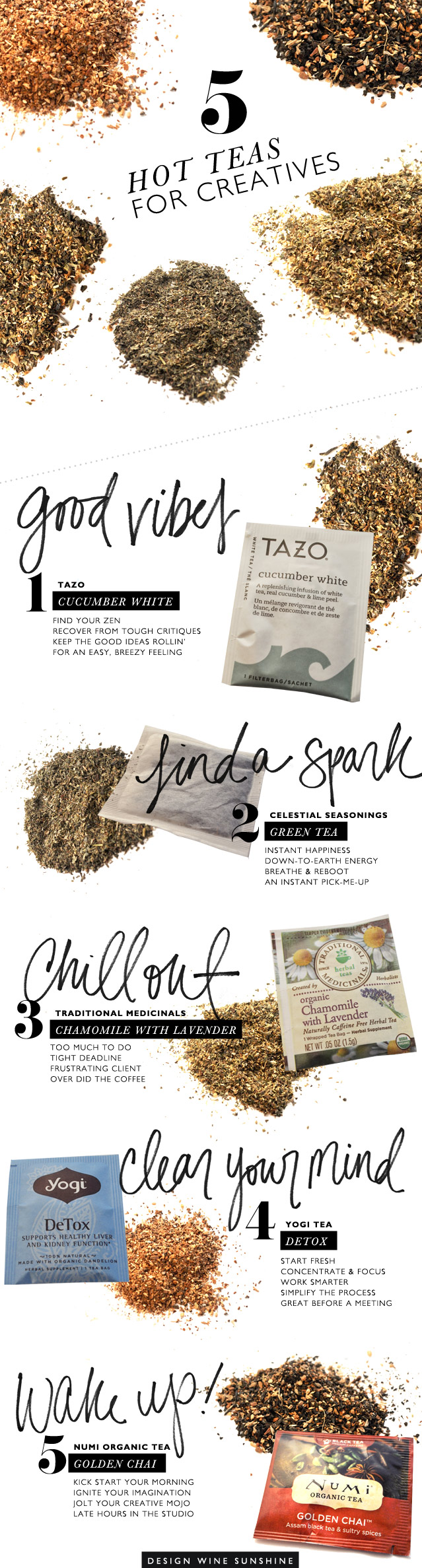 Design Wine Sunshine | 5 Fave Hot Teas for Creatives, Artists, Designers
