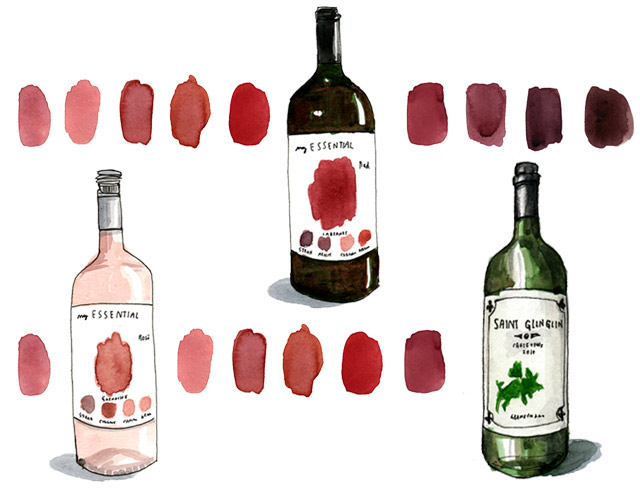 Design Wine Sunshine loves My Essential Red My Essential Rose Saint Glinglin