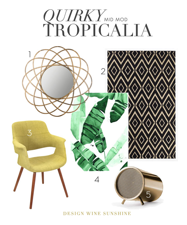 Design Wine Sunshine -- Quirky {Mid Mod} Tropicalia